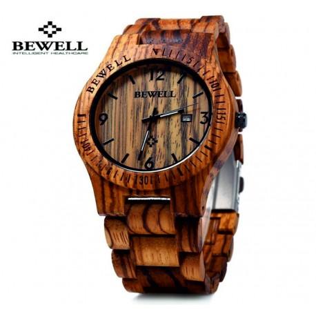 1746ef53c88 Snížena cena Dřevěné náramkové hodinky BEWELL z přírodních materiálů. Dřevěné  hodinky pro muže i ženu.