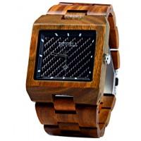 BEWELL Drevené náramkové hodinky tmavej OLIVIA DH005 vera