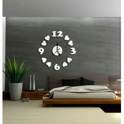 Moderní nalepovací nástěnné hodiny na stěnu SRDÍČKA