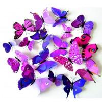 SENTOP Samolepka nálepka na zeď motýly SA016 fialový