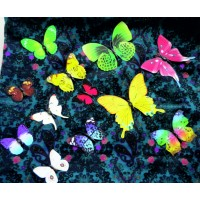 Samolepka na zeď - Motýli barevné - 1 balení obsahuje 12 ks