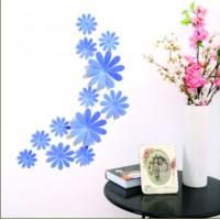 Kreativní nálepka na zeď - Pomněnka - 1balení obsahuje 12 ks FLORA