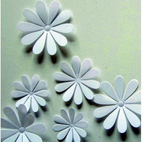 Nálepky a samolepky na zeď, barevné květy, 3D dekorace do každého pokoje