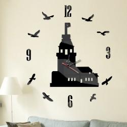 Moderní nalepovací hodiny na stěnu HAVRAN