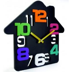 Nástěnné hodiny domek (dům hodiny na stěnu) DADA 34x34 cm