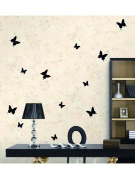 Elegantní samolepky na zeď černé motýli - 1 balení obsahuje 12 ks