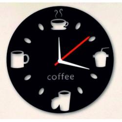 Nástěnné hodiny zrcadlové pohoda na kávu
