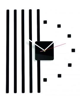 Nástěnné hodiny plexi Barva černá. Rozměr 58 x 45 cm KORADO