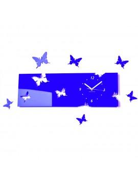 Plastové hodiny modré EVITA. Rozměr 60 x 49 cm