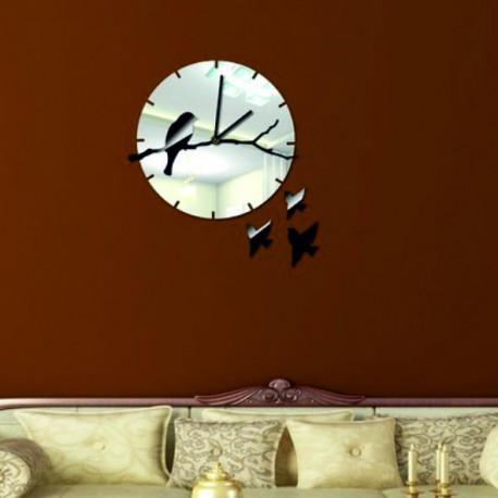 Už jsem tady! Nástěnné hodiny zrcadlové černé.
