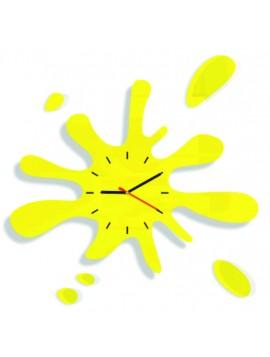 Nástěnné hodiny žluté sluníčko. Rozměr hodin 65 x 65 cm