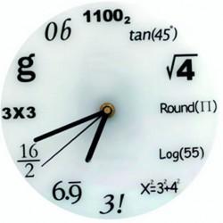 Hodiny matematika bílé matné fi 30 cm