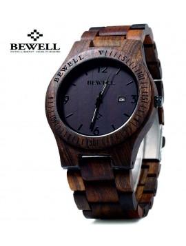 Dřevěné náramkové hodinky tmavá čokoláda-BEWELL