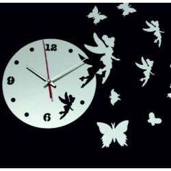 Nástěnné hodiny pro děti Víla Amálka