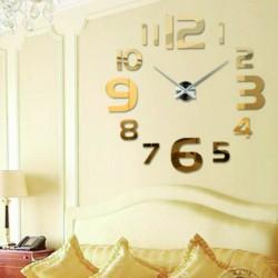 Zlaté nástěnné hodiny bohatství Heuréka