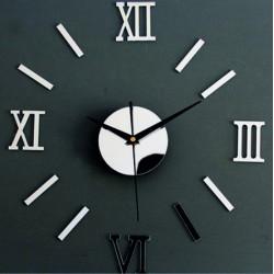 Zrcadlové nástěnné hodiny římské malé roman EVKLIN