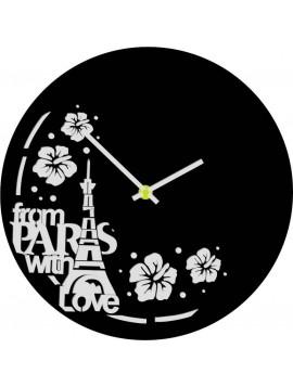 Nástěnné hodiny vyrobené z vinylové desky