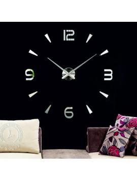 Moderní 3D nástěnné nalepovací hodiny. Zrcadlové hodiny jako obraz.