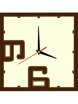 Nástěnné hodiny čísla barva: tmavá hnědá, hnědá, bílá káva ERIC