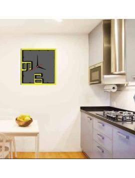 Hodiny na zeď ISIDRO barva: žlutá, černá, šedá