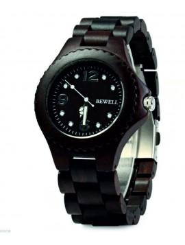 BEWELL Dřevěné náramkové hodinky DH07 RALPH černé
