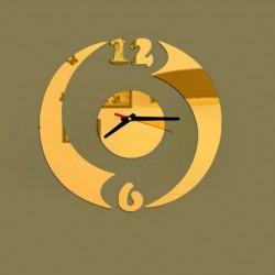 Zrcadlové nástěnné hodiny GOLD