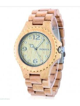 BEWELL Stylové dřevěné náramkové hodinky INGA DH007 světle dřevo