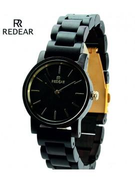BEWELL náramkové hodinky dřevěné černé DH008 black