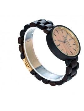 READER Náramkové hodinky na ruku dřevěné Valun DH10 hnědé