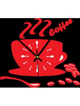 Barevné nástěnné hodiny barva: červená ASTANA
