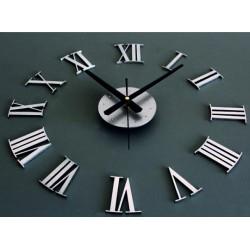 Nástěnné hodiny římské tmavě šedé až černé. Materiál: PMMA, XL PLEXISKLO