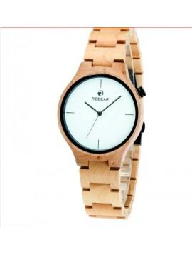 READER Náramkové hodinky dřevěné DH011 CARY MAPLE WHITE