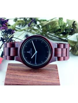 ALK VISION Náramkové hodinky dřevěné DH0012 MALKON červené