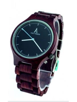 ALK VISION Náramkové hodinky dřevěné DH012 ALK hnědé