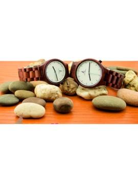ALK VISION Náramkové hodinky na ruku dřevěné DHO12 ABC hnědé