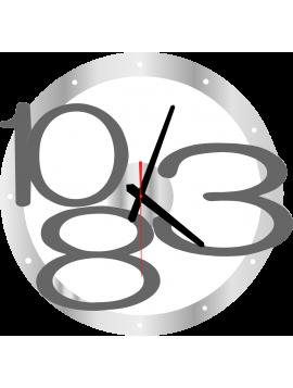 Nástěnné hodiny Exkluzivní barva: stříbrná, šedá čísla X00013