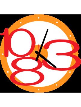 Nástěnné hodiny MODERNE Exkluzivní barva: oranžová, červená čísla