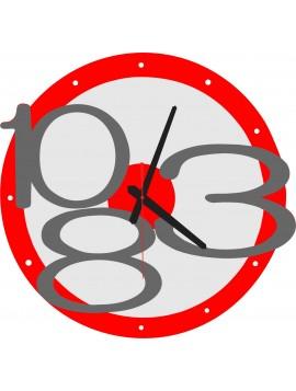 Moderní nástěnné hodiny Exkluzivní barva: červená, šedá čísla