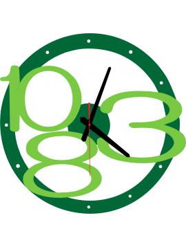 3D Nástěnné hodiny Exkluzivní, barva: zelená, jasně zelená čísla