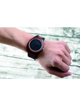 Yisuya Náramkové hodinky na ruku ze dřeva DH013 červené