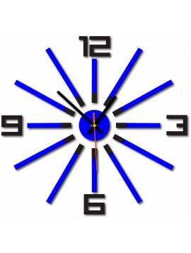 Moderní hodiny na stěnu vyrobeny z plastu. Vlastní výroba, X-momo