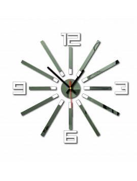 Nástěnné hodiny do kuchyně barva: bílá, zrcadlo TYPSTEL