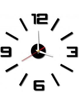 Stylesa Moderní nástěnné hodiny do kuchyně BUSTER X0033 i černé