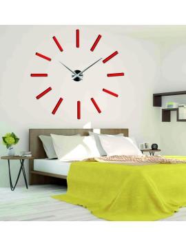 Sentop hodiny na zeď nalepovací X0038 Chocco DIY i črvené