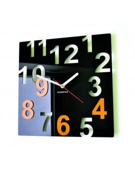 Moderní nástěnné hodiny-Barevné čísla, Barva: černá, žlutá