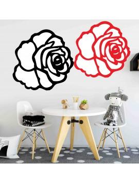 Moderní samolepka na stěnu - Růže