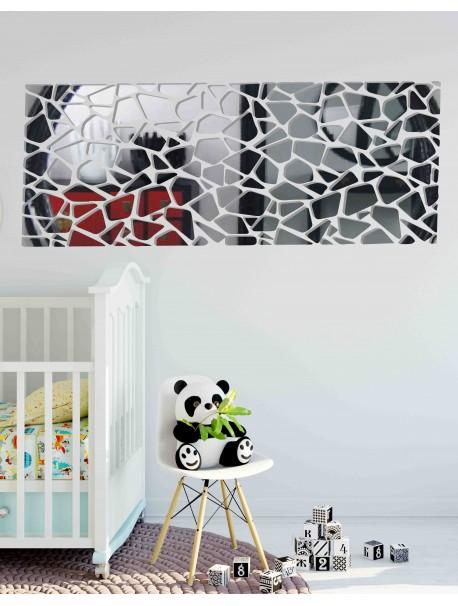 Moderní dekorační zrcadla. Zrcadlové a barevné samolepky na zeď, 3d samolepky vyrobené z akrylu