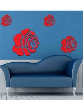 3D samolepka na stěnu  růže
