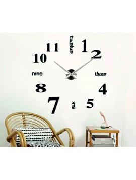 SENTOP Nástěnné hodiny do obýváku MARTIN 2D PLEXI černé S015