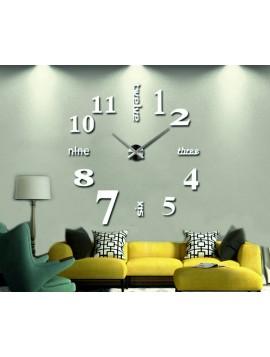 STYLESA nalepovací nástěnné hodiny velká S015 GROF bílé